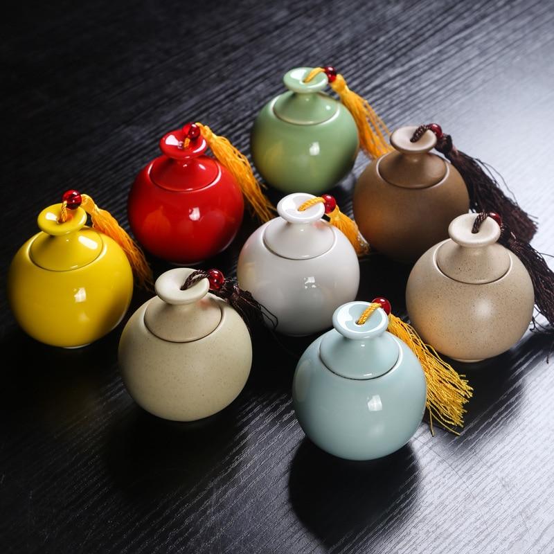Multi-function Sealed Ceramic Jars Variety Tea Cans Ceramic Jars Sealed Cans Powder Containers Cans Jars