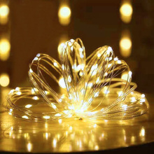 1/2/5/10M LED String Lights Battery Powered Fairy Lights Lamp Holiday Garland Light USB For Christmas Wedding Indoor Decoration