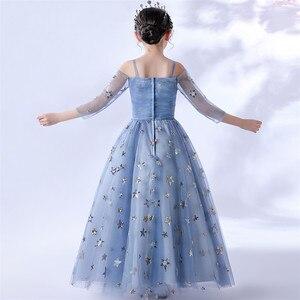 Image 5 - 2020Luxury Exquisite Design Children Girls Sequined Birthday Evening Party Ceremony Princess Prom Dress Kids Host Catwalk Dress