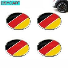 DSYCAR 4pcs/lot 56mm German Flag Alloy Car Wheel Center Hub Caps Sticker Emblem for VW Volkswagen Audi Bmw Mercedes Benz Porsche