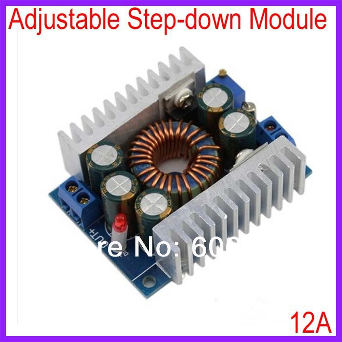 95% Efficient Vehicle Power Supply Module DC-DC High-power Low Ripple 12A Adjustable Step-down Module