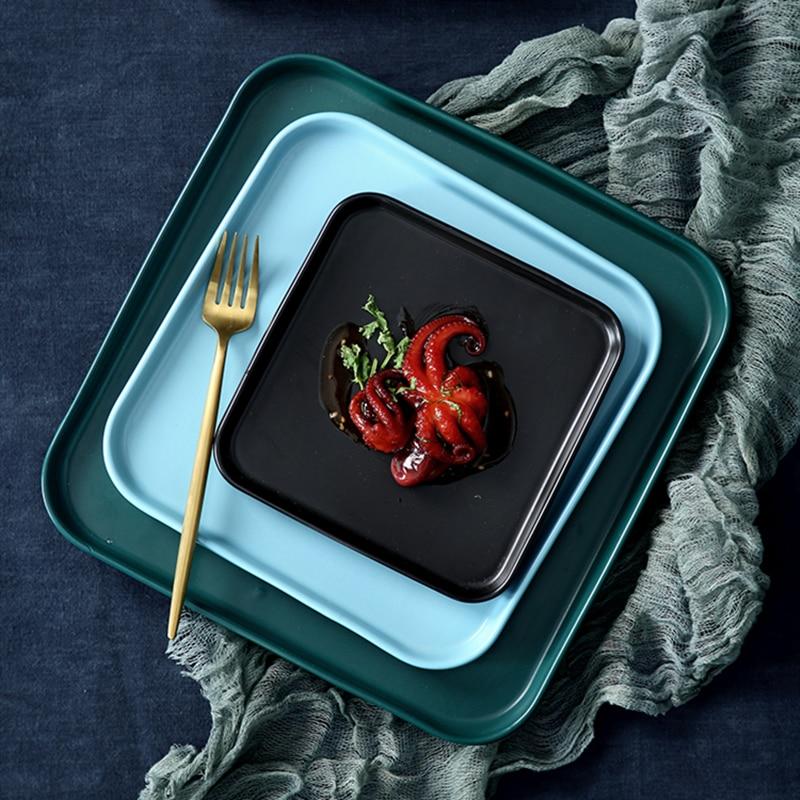 Квадратное плоское шасси керамическая тарелка стейк Западная еда домашний ужин посуда креативность кухонные принадлежности еда кондитерский фарфор| |   | АлиЭкспресс