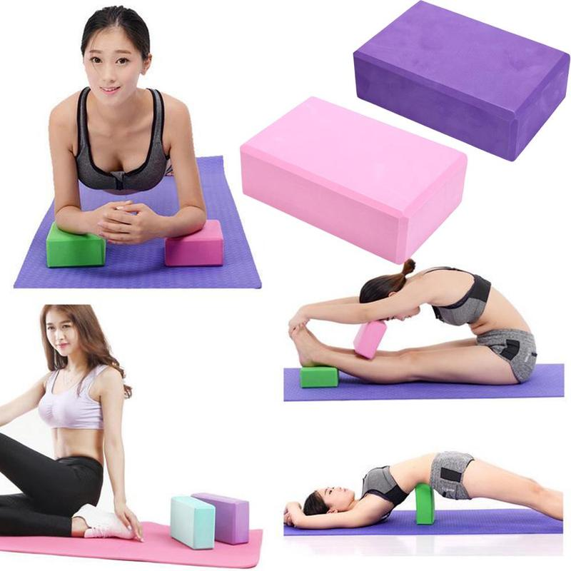 2 pcs Yoga Block EVA Foam Brick Fitness Pilates Tool Gym Workout Stretching