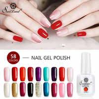 Saviland 1pcs UV Gel Nail Polish 15ml Shiny Hot Nail 58 Colors for Choose Soak Off Gel Lacquer Nail Art Gel Varnishes
