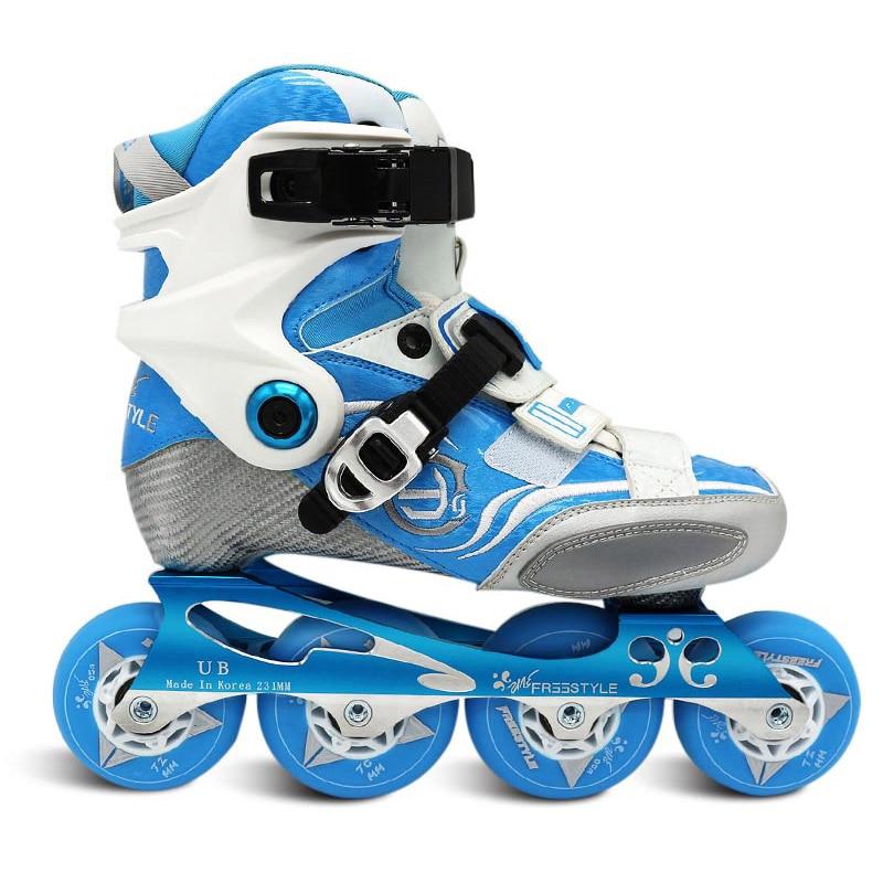 Original Freestyle YJS Carbon Fiber Professional Slalom Inline Skates Roller Skating Shoe Sliding Free Skating Patine