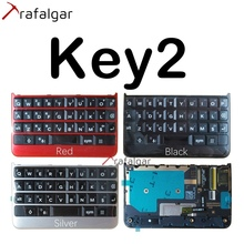 For BlackBerry Key2 Keyboard Keypad Button With Flex Cable For BlackBerry KeyTwo KeyPad Replacement Black Silver Red