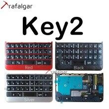 لبلاك بيري Key2 لوحة المفاتيح زر لوحة المفاتيح مع الكابلات المرنة لبلاك بيري KeyTwo لوحة المفاتيح استبدال أسود فضي أحمر