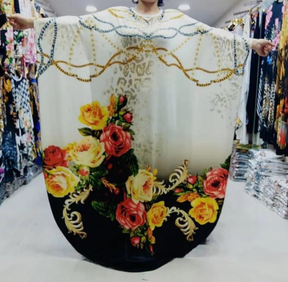 2019 New African Diamond Long Dashiki Dress For Lady