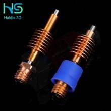 Haldis 3D Red Lizard Aluminum and Copper Hot End V1 Universal Standard Flow High Flow Pipe 3D Printer Accessories