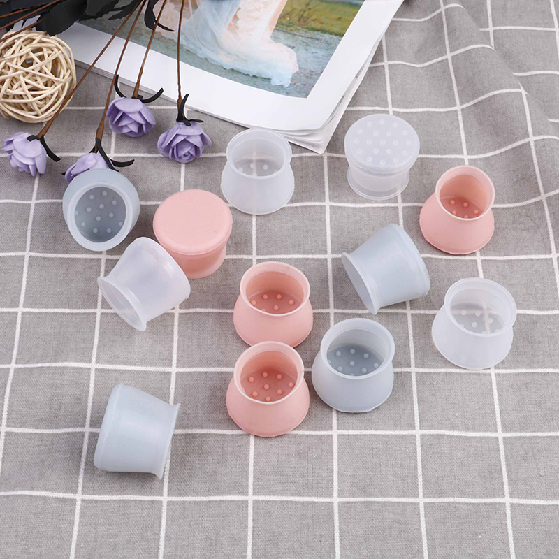 4Pcs/Set Silicone Rectangle Square Round Chair Leg Caps Feet Pads Furniture Table Covers Wood Floor Protectors Pads Protective