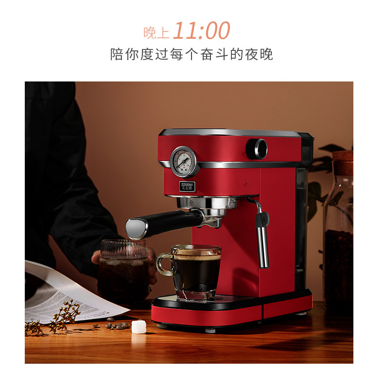 H7dab285ed2ca47048946675520ae82a9L - 2020 Neue 15Bar Espresso Machine Stainless Steel Body Memory Function Home Use Fully Automatic Milk Frother Kitchen Appliances