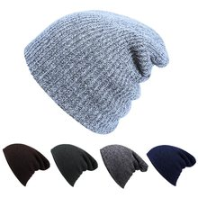 Oeak Winter Unisex Comfortbale Soft Slouchy Beanie Collection Baggy Various Styles Hat 2019 new(China)