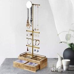 Органайзер для ювелирных изделий, шкатулка для украшений, держатель для ожерелья, коробка для сережек, коробка для кольца сережек