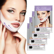 4pcs/box Face Lifting Mask Skin Care 3D Contour Lift Up Jaw & Cheek Slim Double Chin V-shape Facial Moisturizing Firming Mask