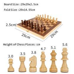 Magneti de madeira dobrável conjunto xadrez magnético grande placa com 34 peças de xadrez interior portátil para o miúdo adulto jogo de tabuleiro viagem conjunto