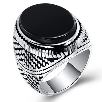 Klasyczny mężczyzna pierścień moda stal nierdzewna vintage pierścień biżuteria akcesoria dla mężczyzn przyjaciel najlepszy prezent tanie i dobre opinie FDLK STAINLESS STEEL Unisex Metal Party Prong ustawianie Nastrój tracker Archiwalne Wszystko kompatybilny Zespoły weselne