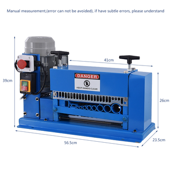 AMWS-38 Electric Cable Stripping Machine Scrap Cable Wire Stripper Scrap Copper Wire Stripping Machine 110V/220V 370W 1.5-38mm 1pc enameled wire stripping machine varnished wire stripper enameled copper wire stripper xc 0312