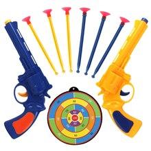 2pc Juguete Pistola Children Gun Toys Soft Bullet Gun Plastic Revolver Kids Fun Outdoor Game Shooter Toy Gun Classic Toys Gift стоимость