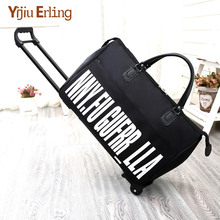 New Hot Fashion Women's Trolley Luggage Suitcase Brand Casual Roll Folding Boarding Suitcase Travel Bag Wheeled Luggage carrylove business travel bag 18 size boarding high quality nylon luggage spinner brand travel suitcase