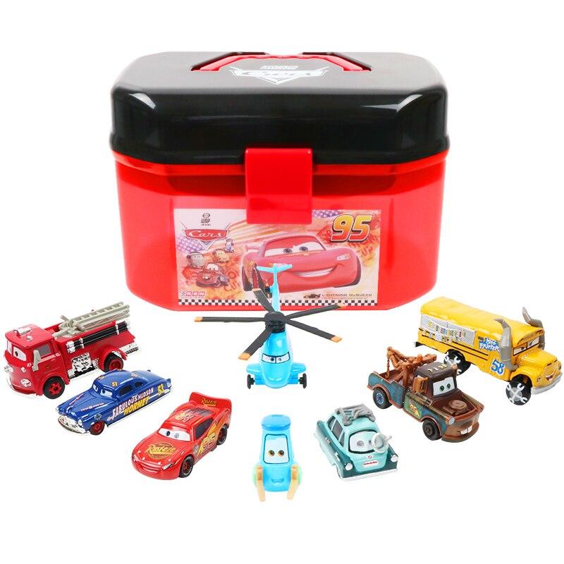 Disney Pixar Cars 2 3, caja de almacenamiento portátil de relámpago Mcqueen de dos capas, juegos de juguetes para niños Pegatina 3D para coche, Araña, lagarto, escorpión, estilo animal, pegatina para Infiniti fx-series qx-series Coupe EX37 EX25 JX35 EX35