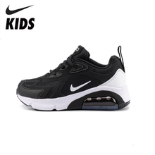 NIKE AIR MAX 200 (PS) Original Kids Shoes New Arrival Children Sports Running Shoes Comfortable Sneakers #AQ2568 AT6175 cheap All Seasons Rubber Synthetic Unisex Fits true to size take your normal size Anti-Slippery Lace-Up Mesh (Air mesh) casual shoes