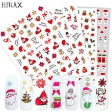 HNUIX Newest 3d nail art sticker Flowers Motifs  Nails Art manicure decal decorations design for beauty tips