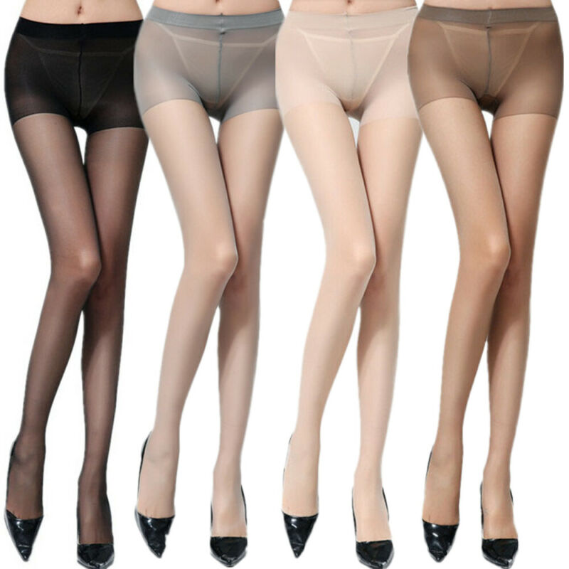 Women Sexy See-through Tights Seamless Solid Color Stretchy Pantyhose Stockings
