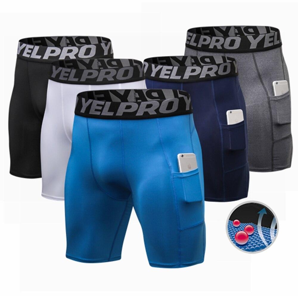 New Design Men's Pocket Shorts Basketball Shorts Sport Running Tight Fitness Short Trouser Shorts