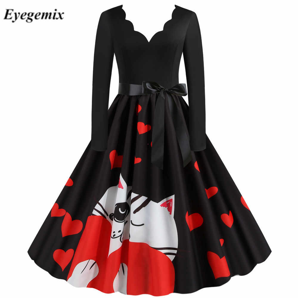 Vintage Plaid Print Kerst Jurk Vrouwen Casual Patchwork Party Dress Muzieknoot Gewaad 50S 60S Rockabilly Swing Pinup vestidos