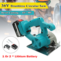 36V Brushless Circular Saw Power Tools Saw Blades 110mm Blade For Wood Circular Saw High Power And Cutting Machine