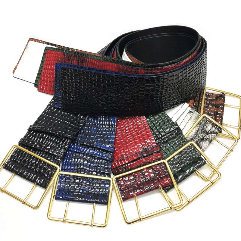 Hot Sale 2020 New Design High Fashion Leather Wide Belts For Women Solid Corset Belt Tide Stylish Waistband Female Trendy ZL101