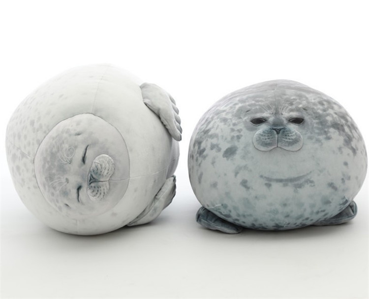 Cute Seal Lion Plush Toys 3D Novelty Animal Seal Pillows Soft Plush Seals Toys Stuffed Plush Housewarming Party Hold Pillow