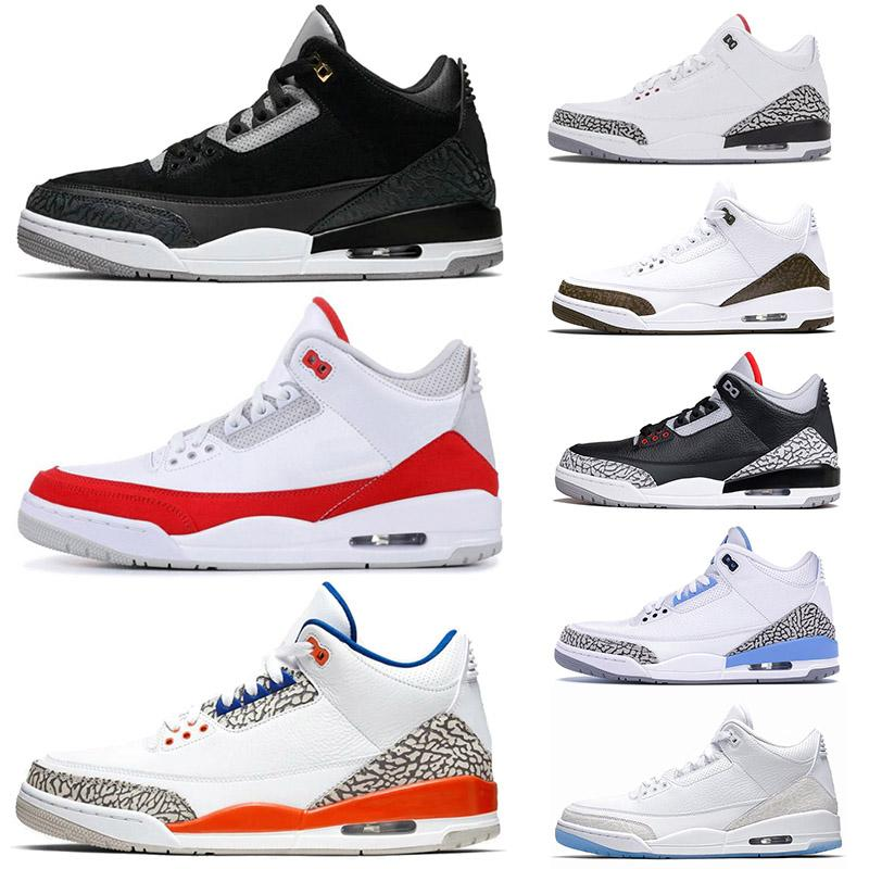 Basketball-Shoes Trainers Sports-Sneakers CEMENT White Designer Retro 3 New 7-13 BLACK title=