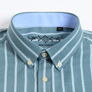 Image 2 - גברים חולצה ארוך שרוול רגיל Fit גברים חולצה משובצת פסים חולצות גברים שמלת אוקספורד Camisa חברתי 5XL 6XL גדול גדלים streetwear