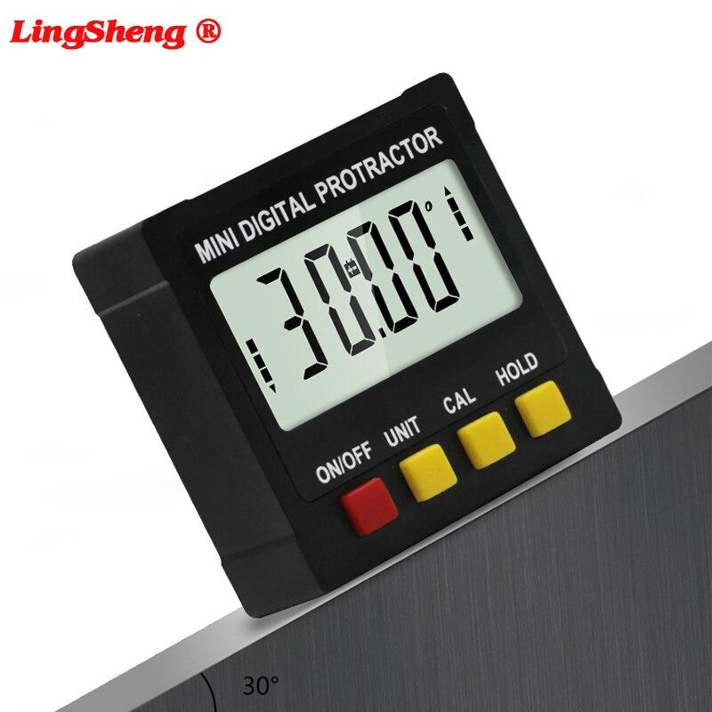 360 degrés Mini rapporteur numérique inclinomètre boîte de niveau électronique Base magnétique charpentier outils de mesure goniomètre