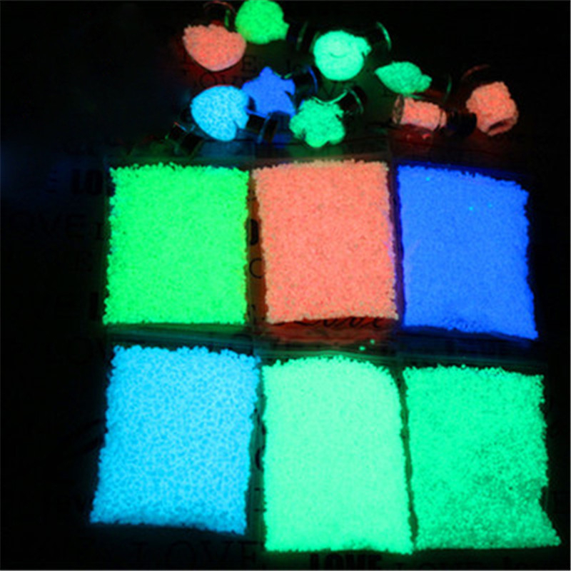 10g Luminous Sand Stones Garden Park Road Pebbles Glow In Dark Ornaments ForParty Aquariums Fish Tank Decoration Stone Ornaments
