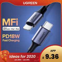 Ugreen Cavo Mfi Usb C a Lightning per Iphone 11 Pro Xs Max X 8 18W Pd Fast Charger cavo Dati per Macbook Ipad Pro Usb C Cavo