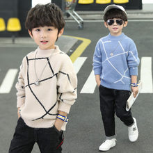 New Year Baby Sweater for Boys Autumun Winter Kids Boy Knit Sweaters Children Retro Style Cashmere Knitwear For Age 4 5 7 9 11 Y