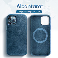 Sancore Magsafe Case Alcantara Voor Apple IPhone12 12Pro 12Promax 12Mini Case Magsafe Mgnetic Draadloze Lading