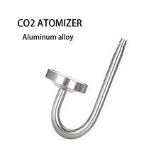 Zrdr prata 70mm aquário sistema de atomizador co2 difusores tanque de água aquática planta