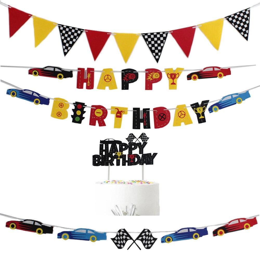 1 комплект Гоночный флаг черный, белый цвет, с клетчатым узором, с принтом «Гоночная машина торт фигурки жениха и невесты; Флаг день рождения ...