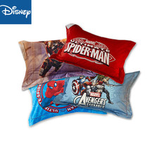 Disney Marvel Spider Man Iron Hulk 100% cotton Pillowcase Shams For kids red pillow cover 1Pcs Home Textile Kidss Presents