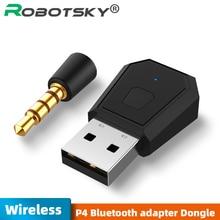 PS4อะแดปเตอร์ USB อะแดปเตอร์ไร้สายบลูทูธสำหรับ PS4 Gamepad ชุดหูฟัง USB Receiver หูฟัง USB Dongle สำหรับ PS4