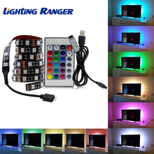 USB Power TV LED Strip Light 2835 5050 RGB Neon TV Screen Backlight Decor RGB 1M/2M/3M/4M/5M For Bedroom Livingroom Decor Screen