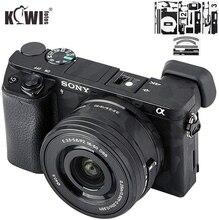 Kiwi Anti Scratch Filme Protetor Tampa Da Pele Do Corpo Da Câmera para Sony Alpha A6500 + SELP1650 16 50mm lens 3 Adesivo 3M/Sombra Negra