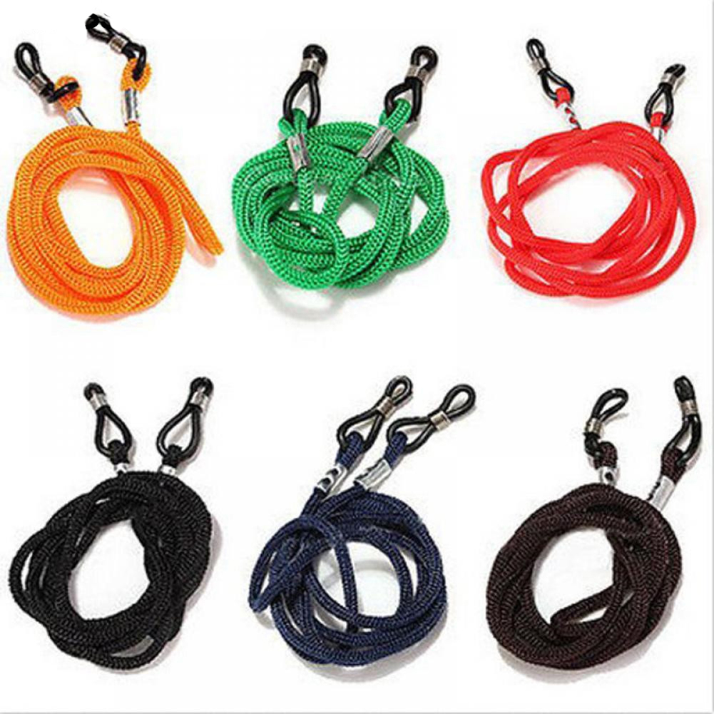 Colorful Cotton Blend Sunglasses Strap Eyeglass Chain Reading Glasses Chain String Holder Neck Cord Eyewear Glass Necklace