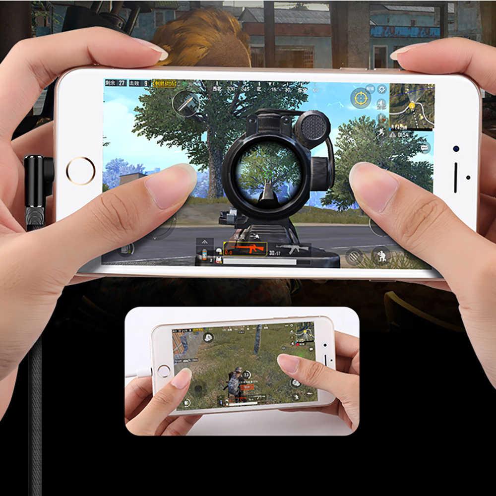 1M 2MประเภทC USBโทรศัพท์มือถือสายเคเบิลไนล่อนสาน90องศาข้อมูลสำหรับHuawei Xiaomi Samsung fast Charging Wire