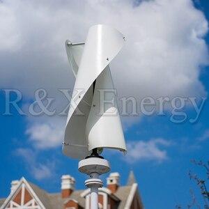Image 4 - VAWT Turbine éolienne verticale 400w/600w 12v/24v en option, spirale, 3 couleurs, générateur avec contrôleur de charge MPPT pour la maison