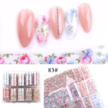 1set/lot 2.5*100cm Butterfly Spring Mix Flower Starry Sky Nail Foils set Transfer Sticker DIY Manicure Decoration Decals - 83
