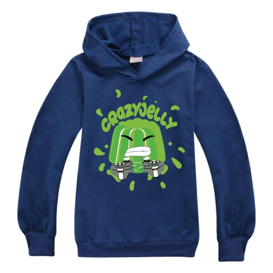 Baby Boys Thin Long Sleeve Kids Clothes Cartoon Jelly Youtube Print Hoodies Girl Costume Children Sweatshirts Top Tees 4